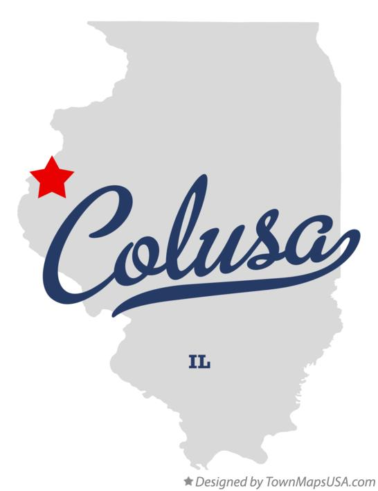 Map of Colusa Illinois IL