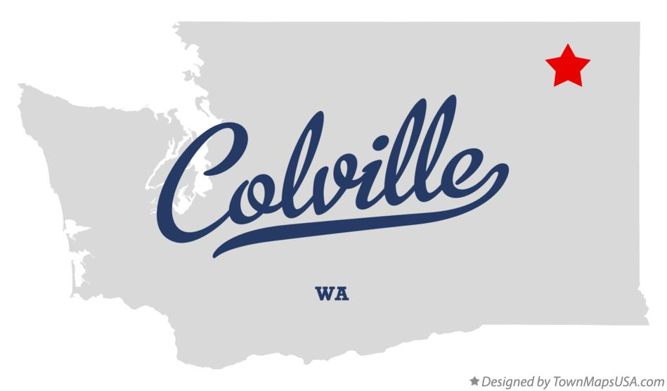 Map of Colville Washington WA