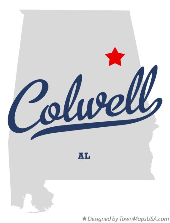 Map of Colwell Alabama AL