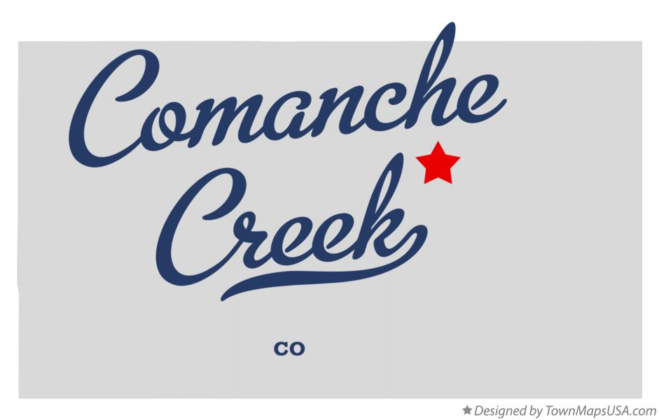Map of Comanche Creek Colorado CO