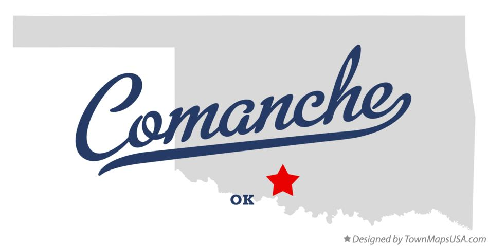 Map of Comanche Oklahoma OK