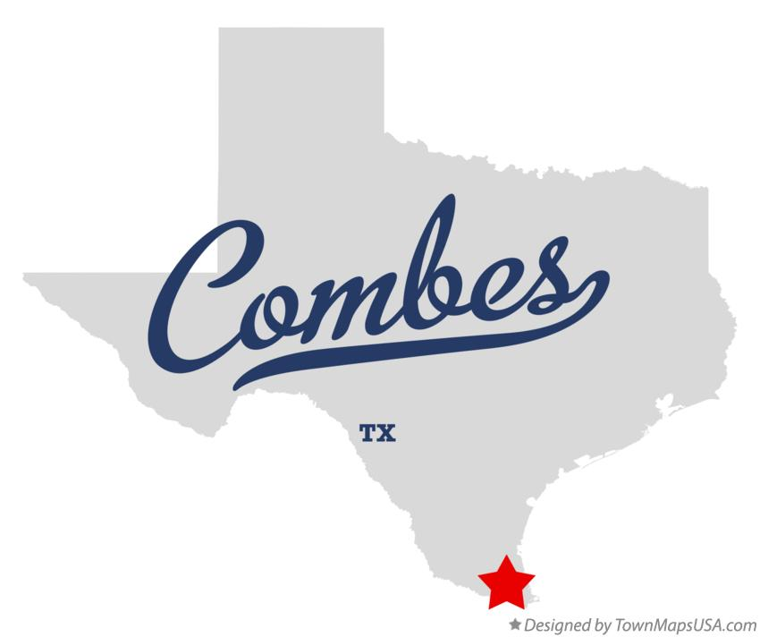 Map of Combes Texas TX
