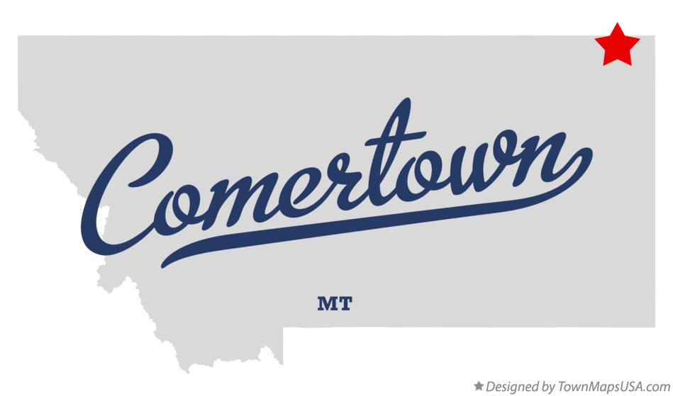 Map of Comertown Montana MT