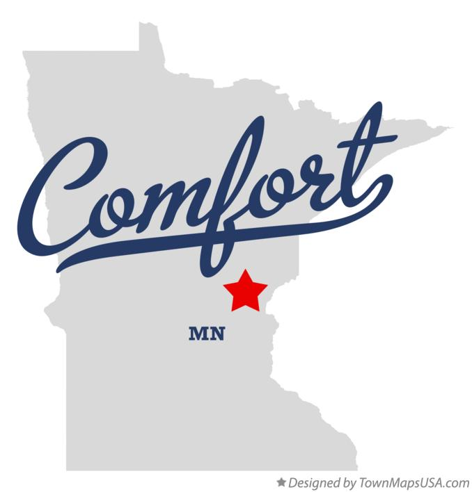 Map of Comfort Minnesota MN