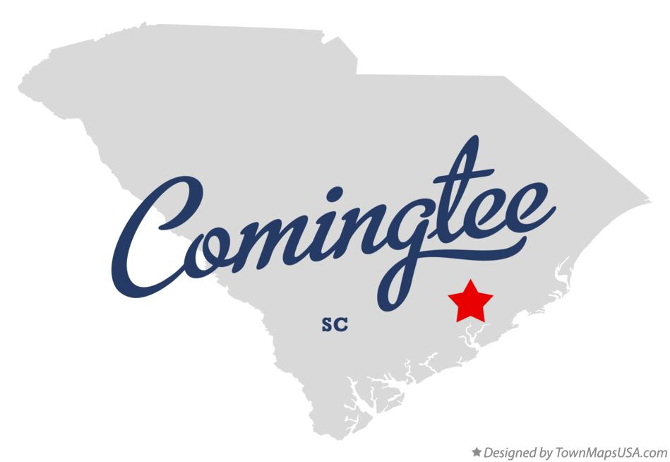 Map of Comingtee South Carolina SC
