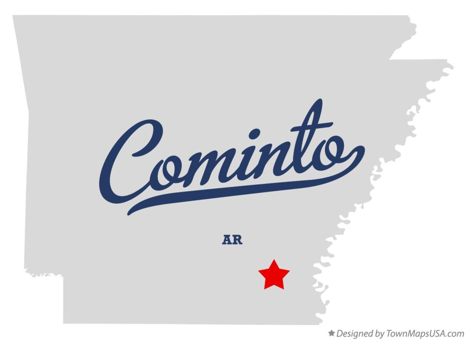 Map of Cominto Arkansas AR