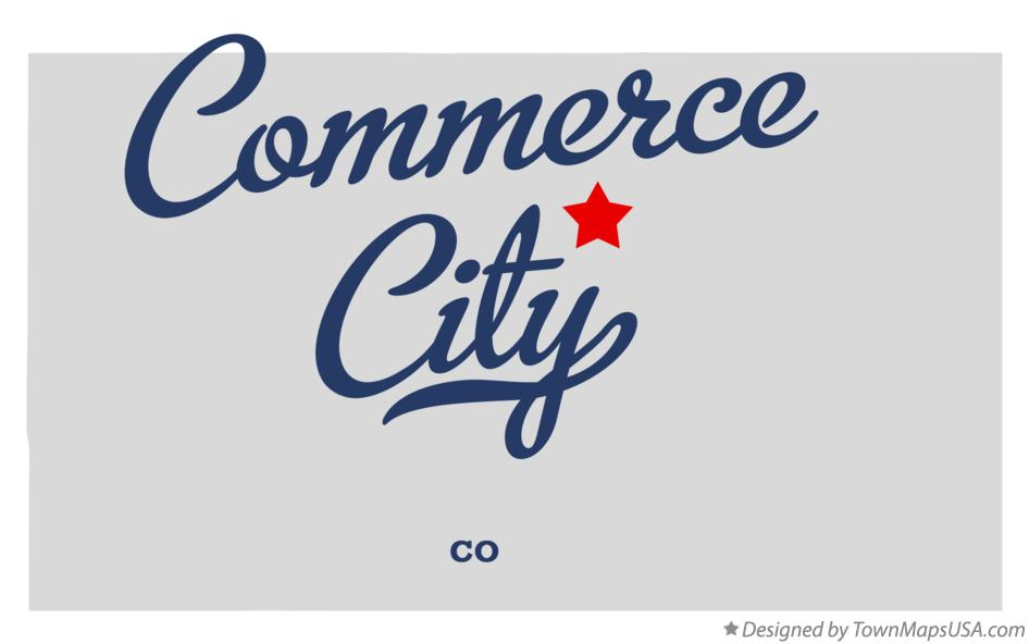 Map of Commerce City Colorado CO
