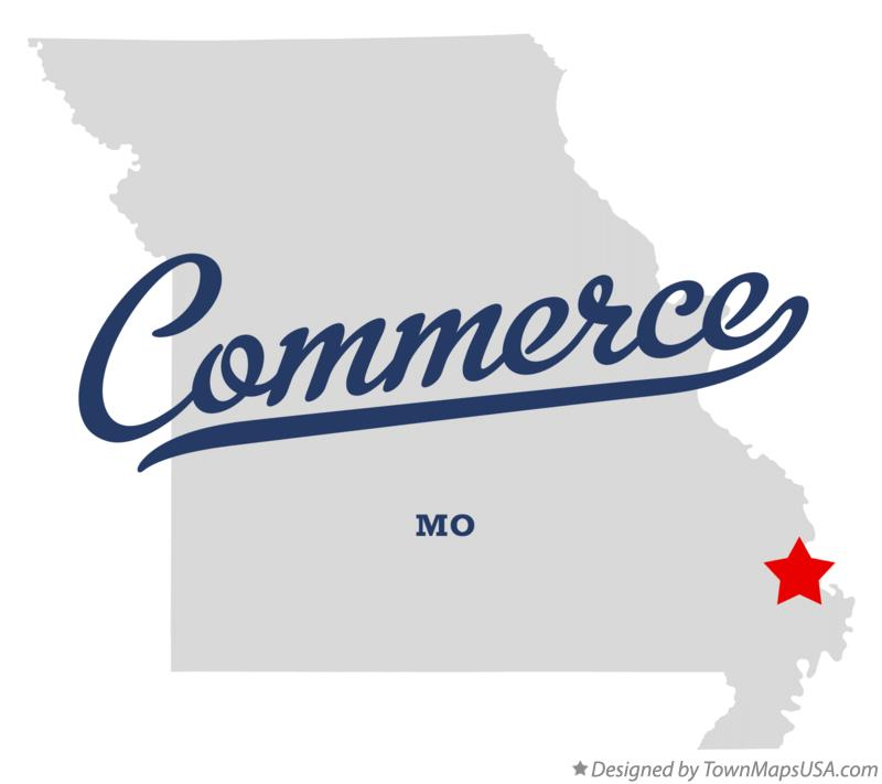 Map of Commerce Missouri MO