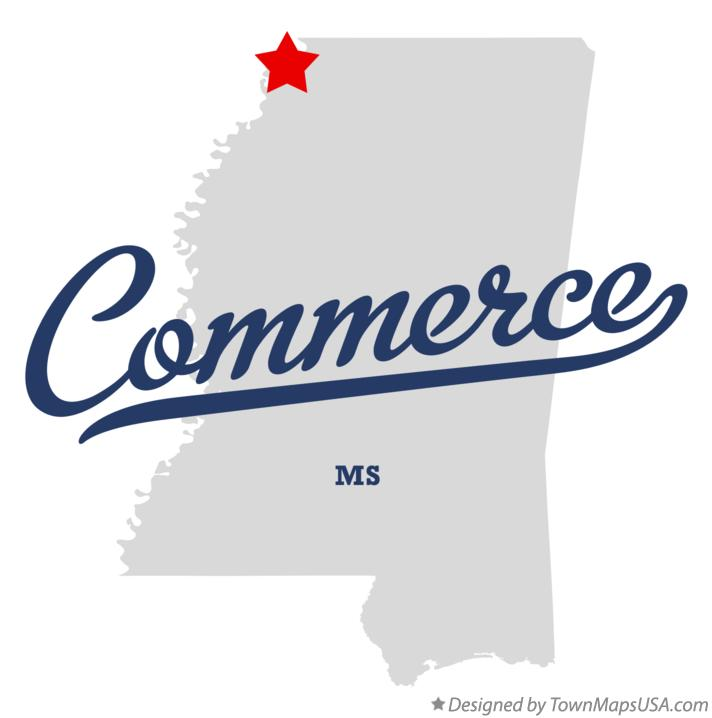 Map of Commerce Mississippi MS