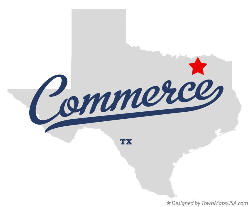 Map of Commerce Texas TX