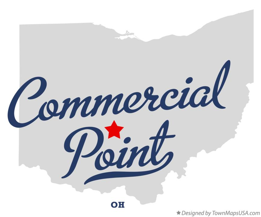 Map of Commercial Point Ohio OH