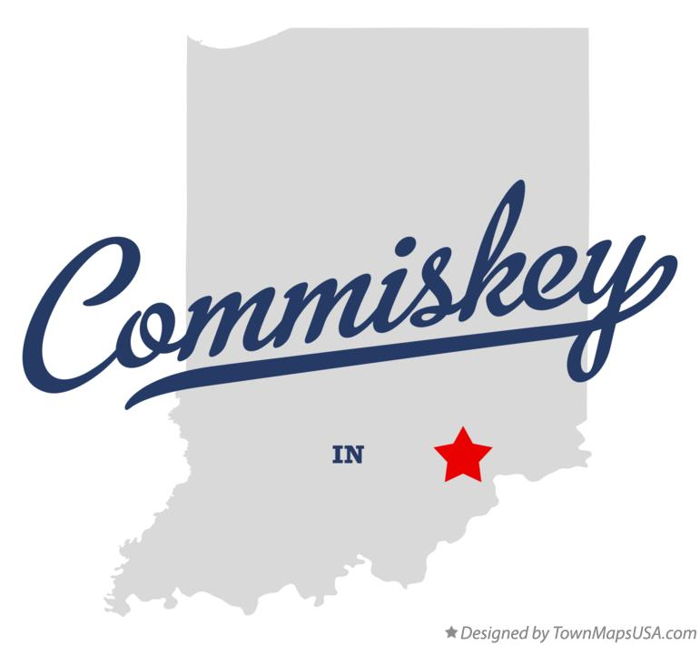 Map of Commiskey Indiana IN