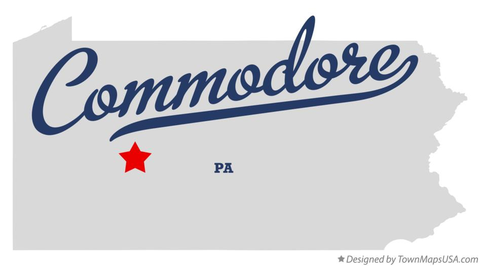 Map of Commodore Pennsylvania PA