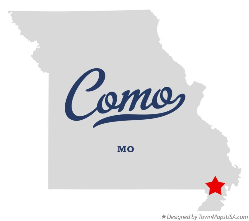 Map of Como Missouri MO