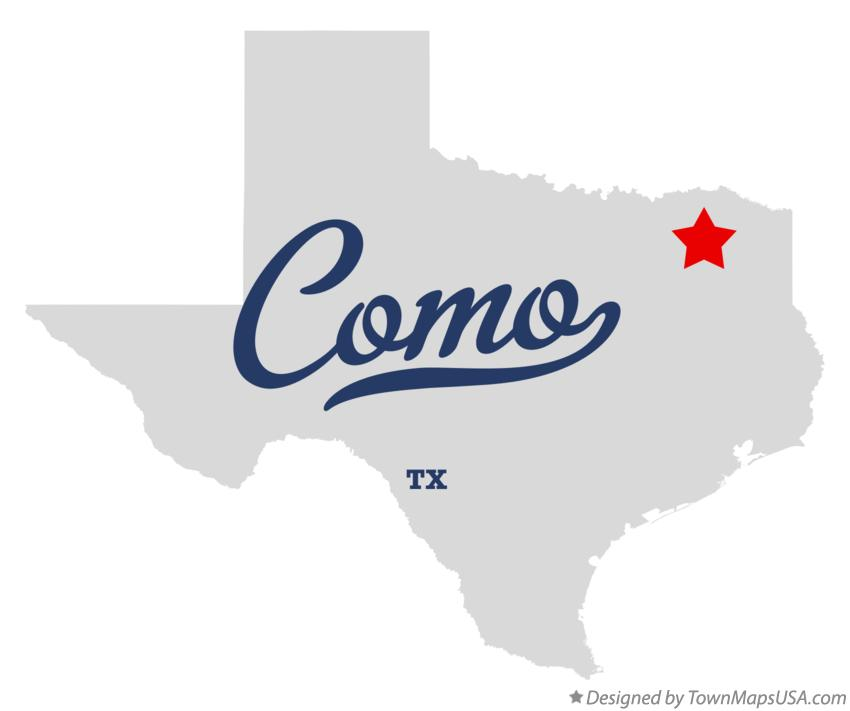 Map of Como Texas TX