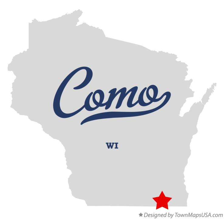 Map of Como Wisconsin WI