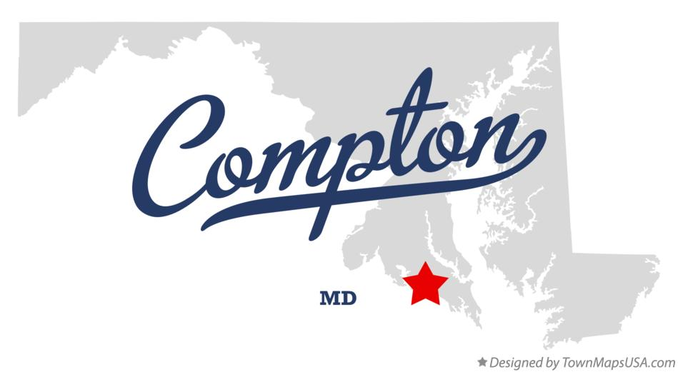 Map of Compton Maryland MD