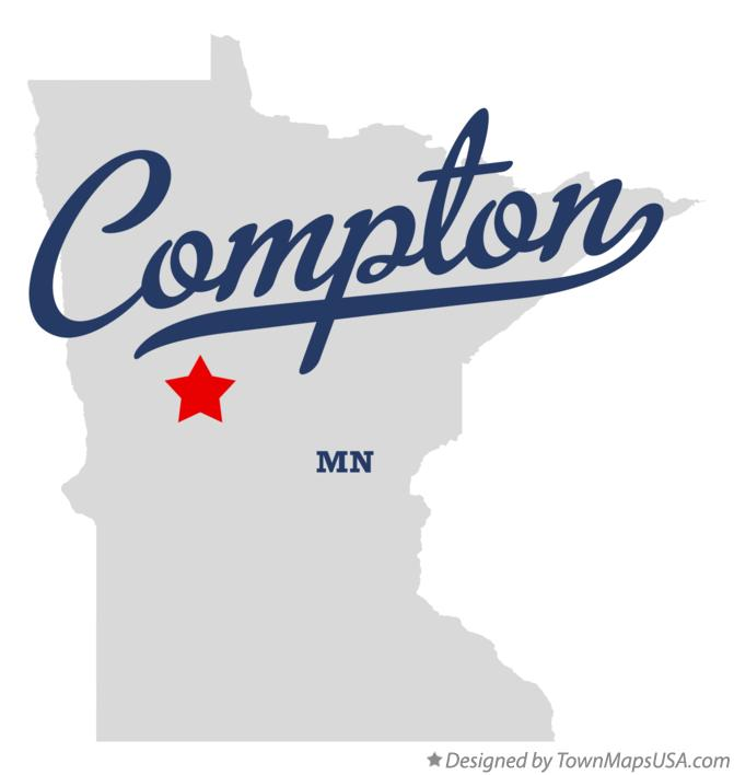 Map of Compton Minnesota MN