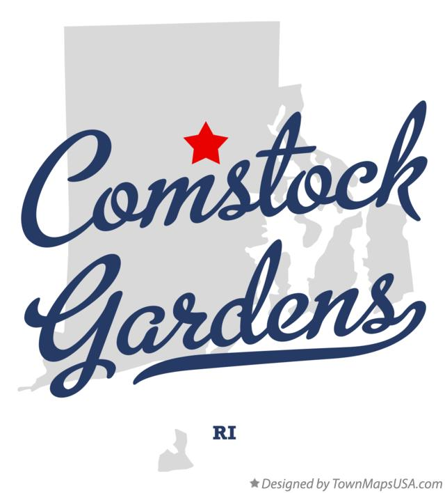 Map of Comstock Gardens Rhode Island RI