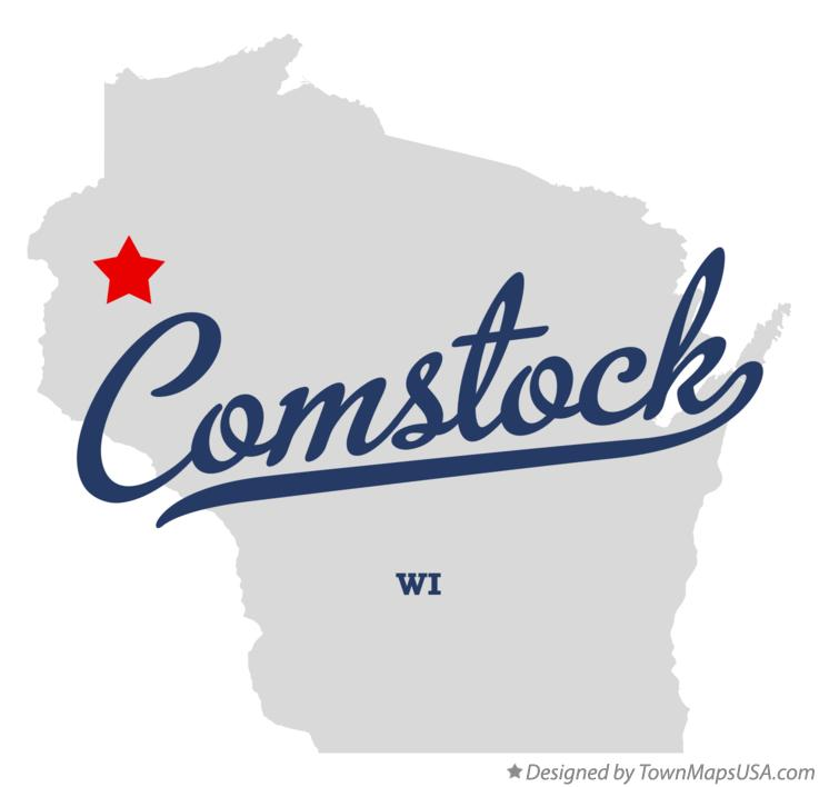 Map of Comstock Wisconsin WI