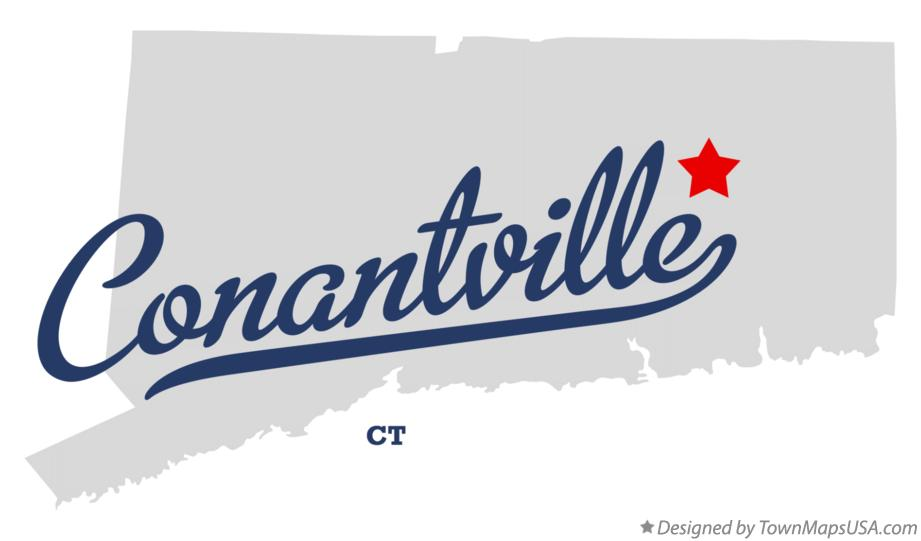 Map of Conantville Connecticut CT