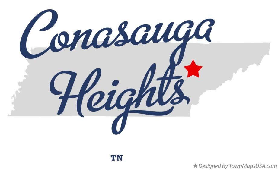 Map of Conasauga Heights Tennessee TN