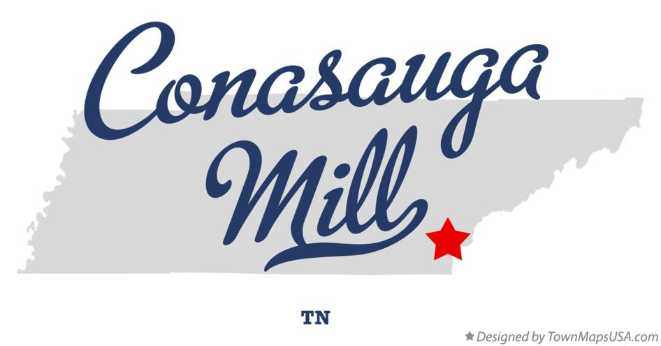 Map of Conasauga Mill Tennessee TN