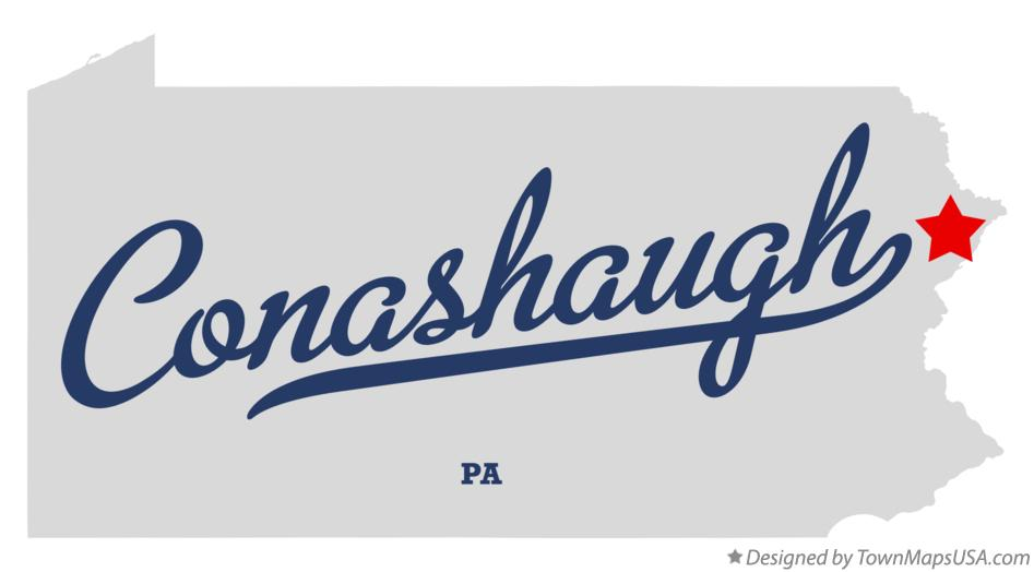 Map of Conashaugh Pennsylvania PA