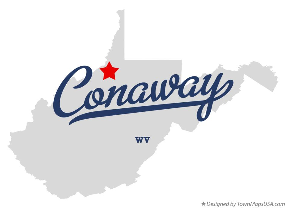 Map of Conaway West Virginia WV
