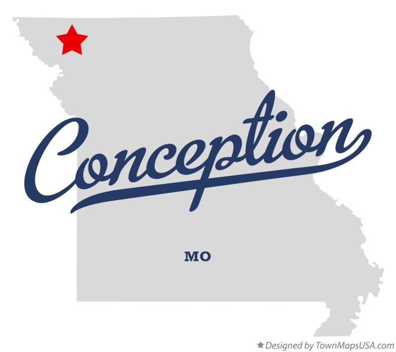 Map of Conception Missouri MO