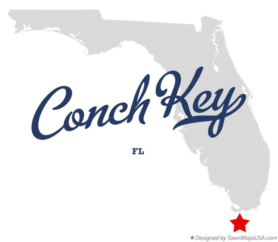 Map of Conch Key Florida FL