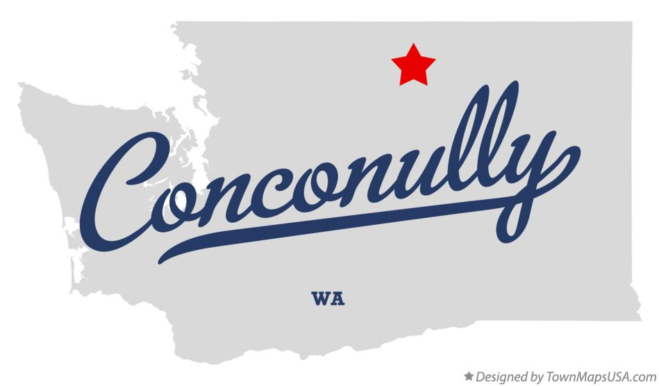 Map of Conconully Washington WA