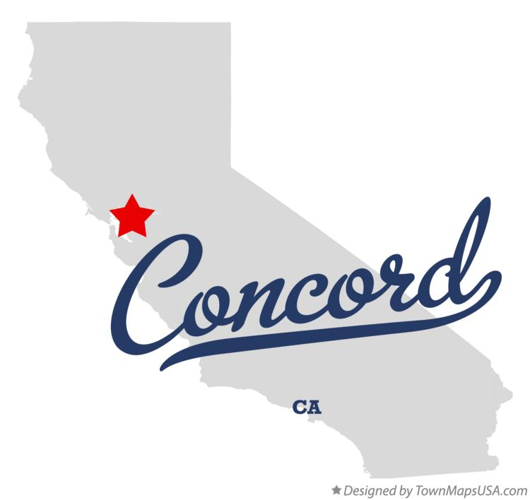 Map of Concord California CA
