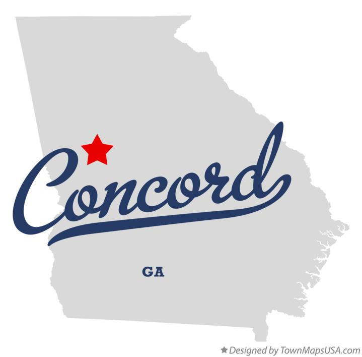 Map of Concord Georgia GA