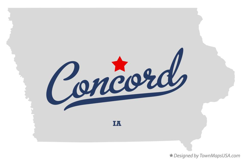 Map of Concord Iowa IA