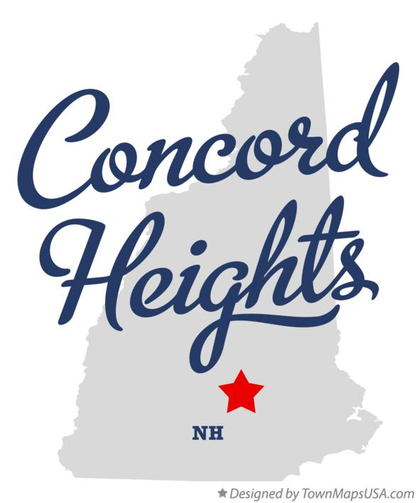 Map of Concord Heights New Hampshire NH