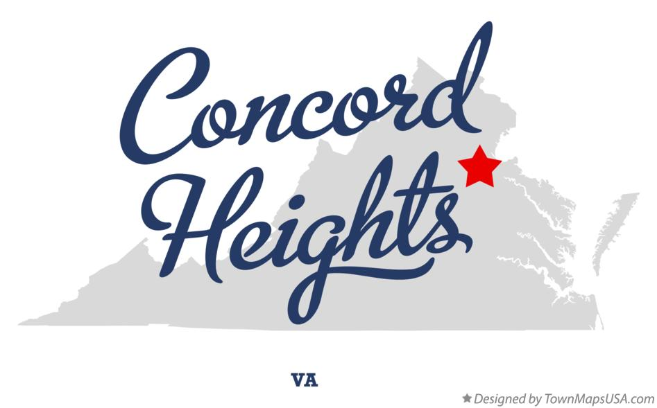 Map of Concord Heights Virginia VA