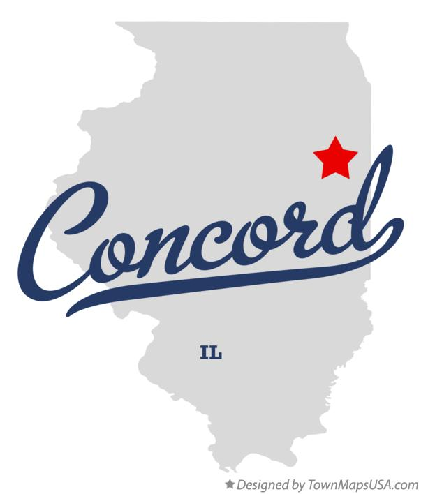 Map of Concord Illinois IL
