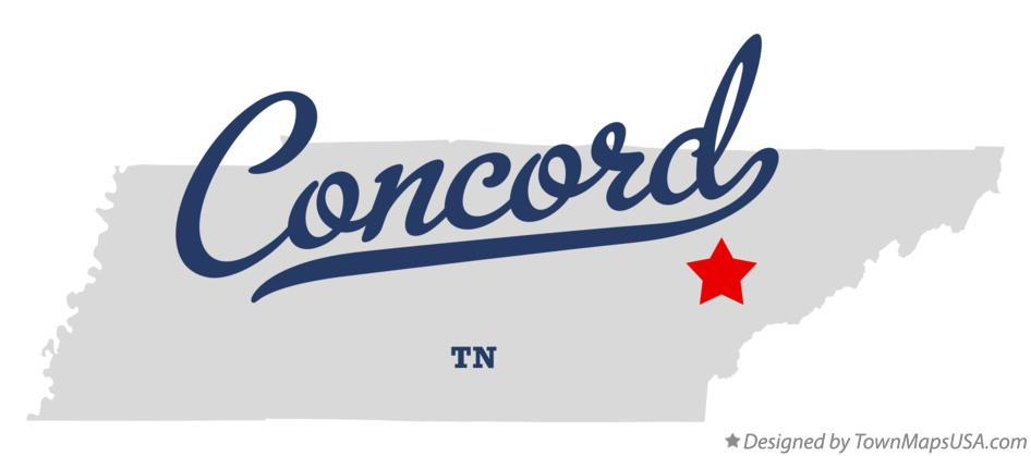 Map of Concord Tennessee TN