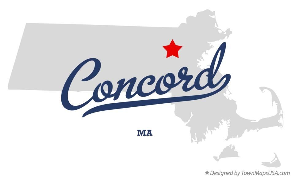 Map of Concord Massachusetts MA