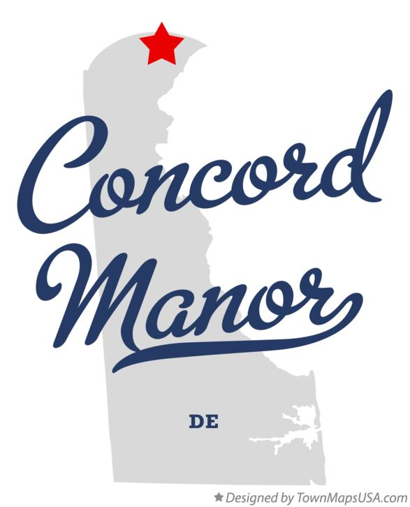 Map of Concord Manor Delaware DE