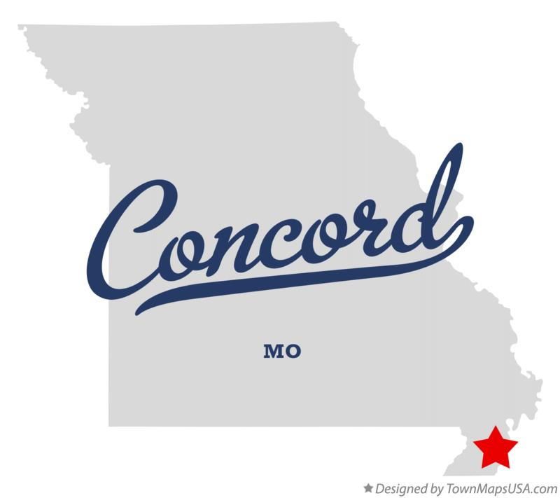 Map of Concord Missouri MO