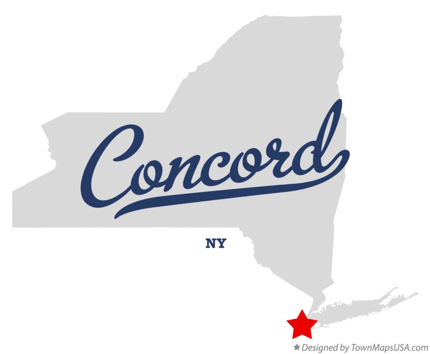 Map of Concord New York NY
