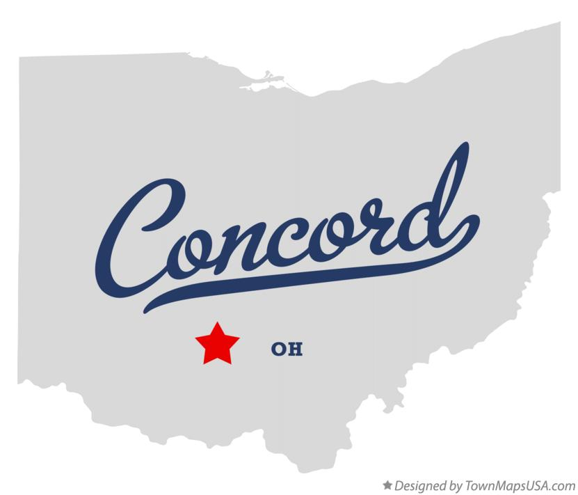 Map of Concord Ohio OH
