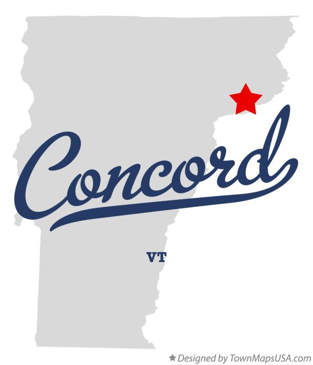 Map of Concord Vermont VT