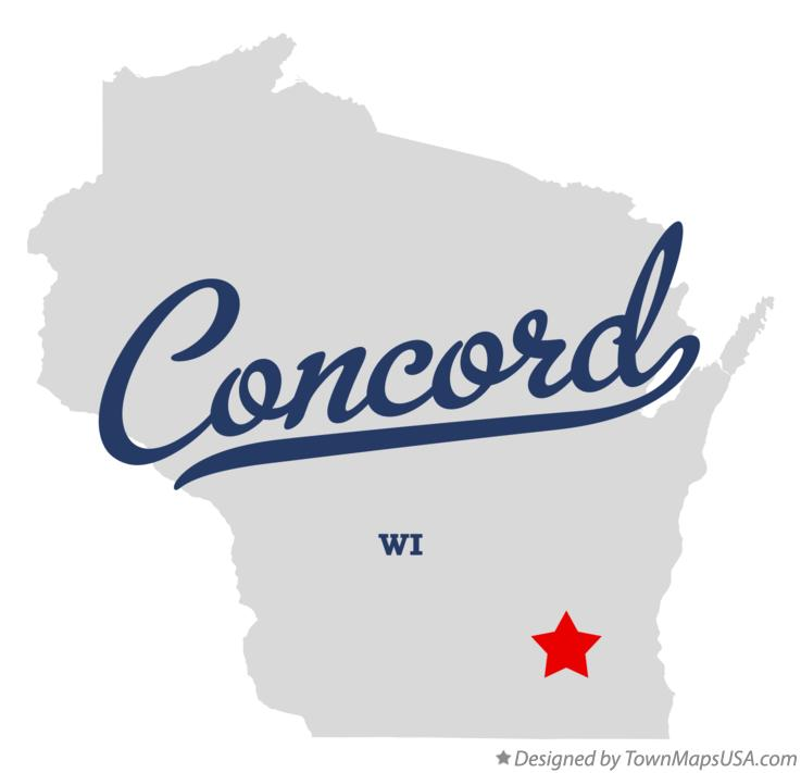 Map of Concord Wisconsin WI
