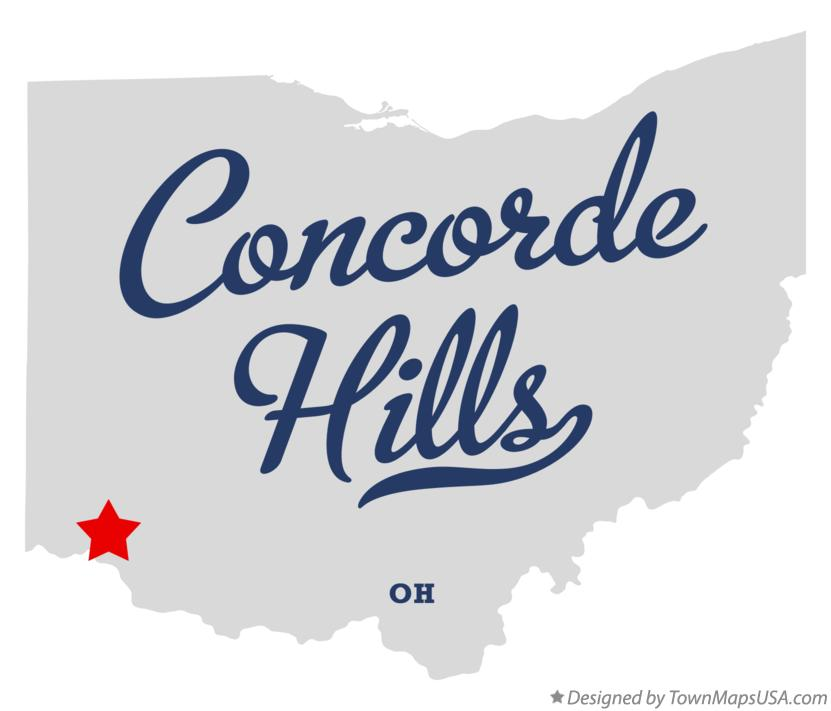 Map of Concorde Hills Ohio OH