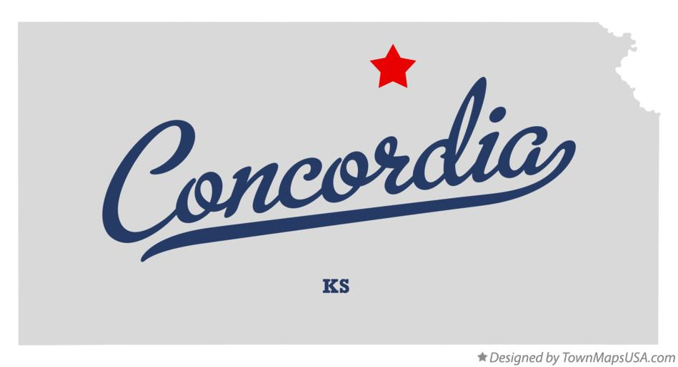 Map of Concordia Kansas KS