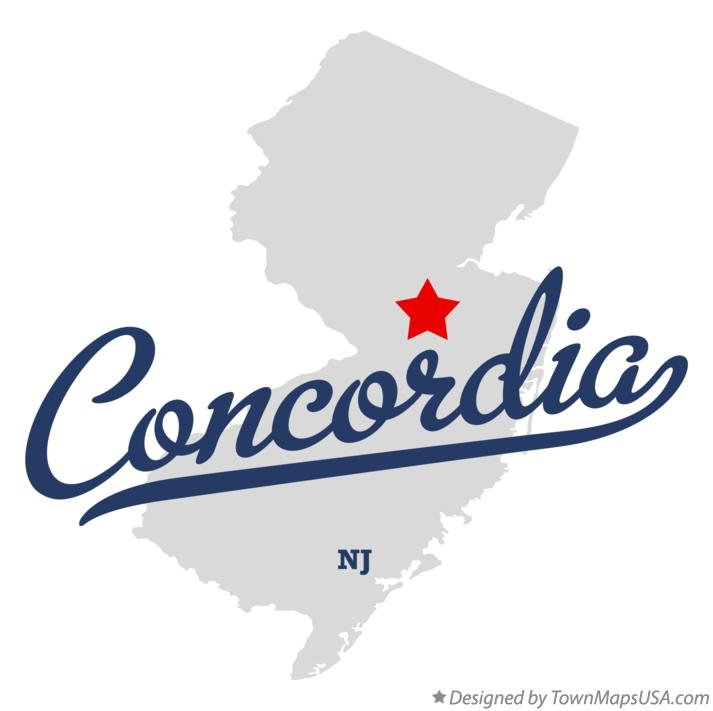 Map of Concordia New Jersey NJ
