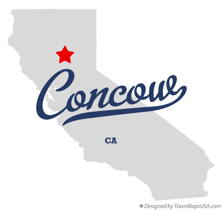 Map of Concow California CA